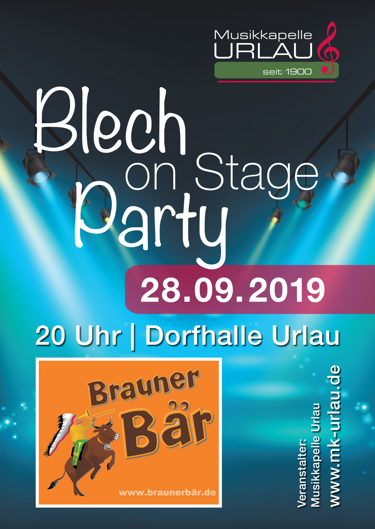 Blech on Stage Flyer Vorderseite