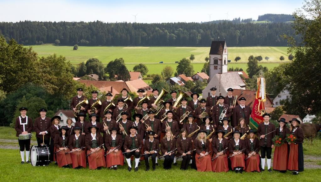 die Musikkapelle Urlau im Oktober 2009